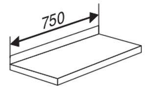 Holzboden mit Anschlagkante für Serie Libra