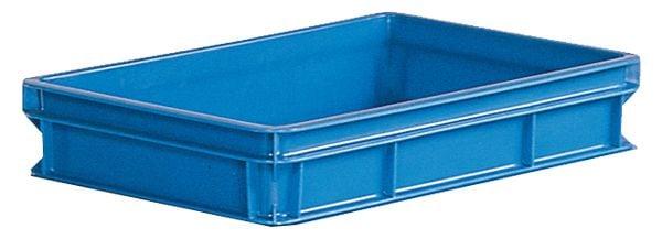 Stapelkasten Typ 3, Wände und Boden geschlossen, blau, 590x385x112mm, Inhalt 20 Liter