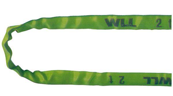 Rundschlinge, grün, Nenntragfähigkeit 2 t