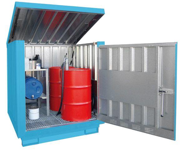 Gefahrstoff-Depot Typ 4 mit Türen, B1525xT1550xH1699mm