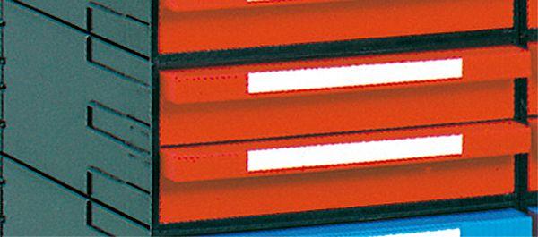 Schubladen-Box, 242x320x102mm, mit 2 Schubladen, rot, einschließlich Schnapp-Verschluß