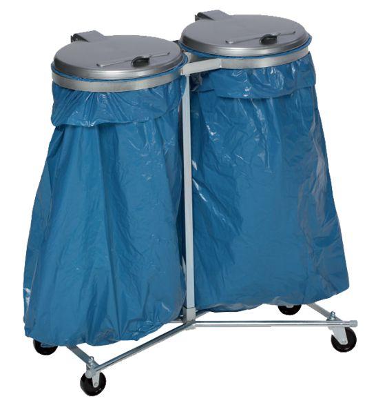 Fahrbarer Doppel-Abfallsammler