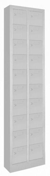 Kleinfach-Schrank 20 Fächer Türen mit Etikettenrahmen