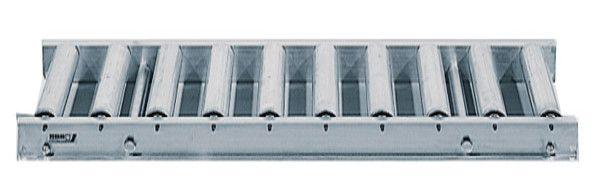 Rollenbahn mit Stahlrollen, 1000mm breit, 62er Teilung