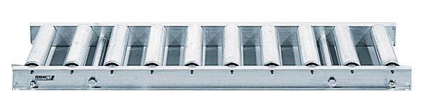 Leicht-Alu-Rollenbahn mit Alurollen, 600mm breit, 75er Teilung