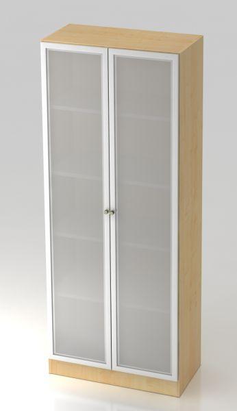 Schrank mit Milchglas-Türen