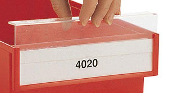 VE = 10 Etiketten für Sichtlagerkästen