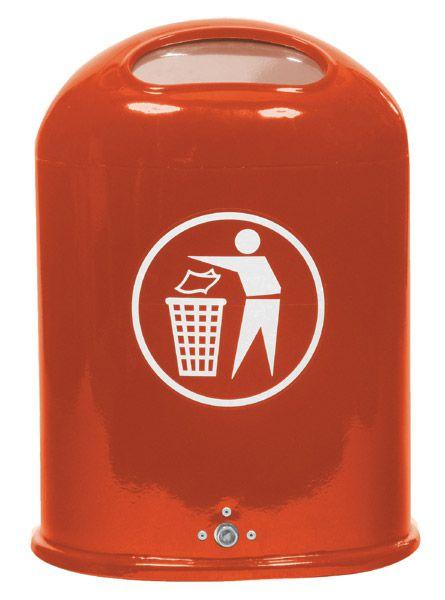 Stahlblech-Abfallbehälter Typ2 mit Federklappen-Öffnung