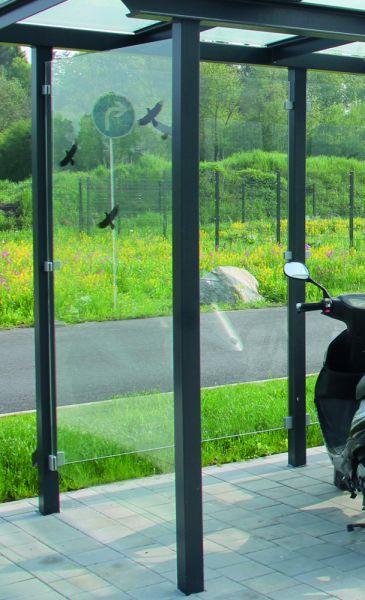 Glas-Seitenwand für Überdachung Serie Passau