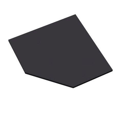 Abdeckplatte für Eckschranklösung 1200 mm Serie dataline