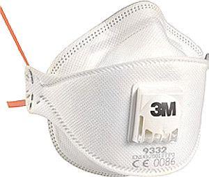 3M Atemschutzmaske, Partikelmaske mit Cool Flow Ausatem-Ventil FFP2-rot, weiß