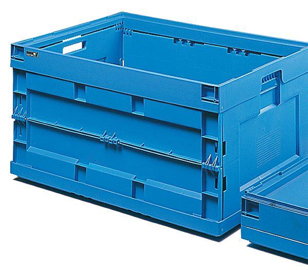 Faltbox, blau, 200 Liter, 600x800x430mm