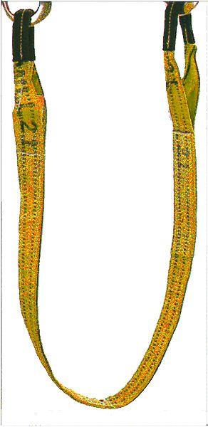 Hebegurt, gelb, Bandbreite 90mm, Nenntragfähigkeit 3 t