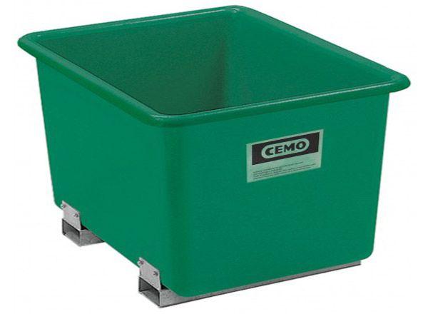 GFK-Behälter 1100 Liter, mit Staplertaschen