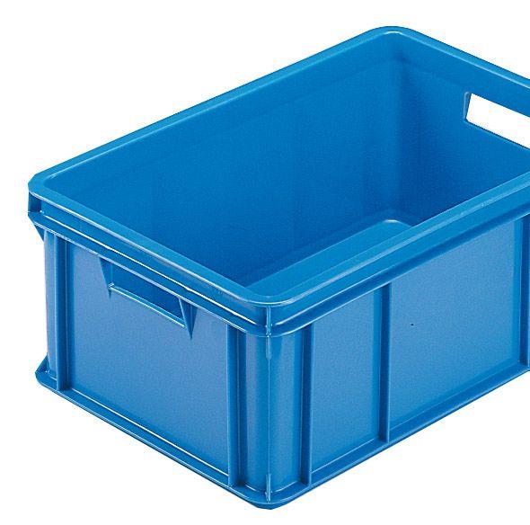 Stapelkasten Typ 3, Wände und Boden geschlossen, blau, 590x385x220mm, Inhalt 40 Liter