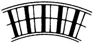 Leicht-Alu-Rollenbahn-Kurve, 600mm breit, 75er Teilung