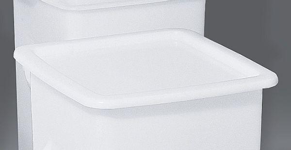 Deckel naturweiß,  für Kunststoff-Behälter 614.0019.00, Niederdruck-Polyäthylen