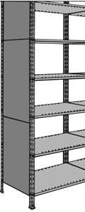 Vollblech-Seitenwand für Regal-Schraubsystem
