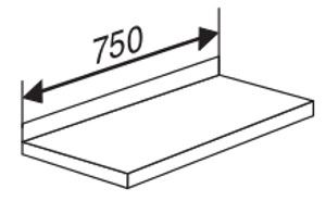 Stahlboden mit Anschlagkante für Serie Libra