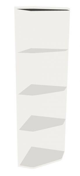 Aufsatz-Abschluss-Eckregal rechts für 4 Ordnerhöhen Serie dataline