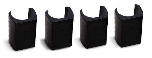 Set = 4 Klemmschalen-Gleiter für harte Böden, mit Filzeinsatz