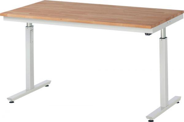 Werktisch mit Buche-Massiv-Platte, Serie adlatus 300
