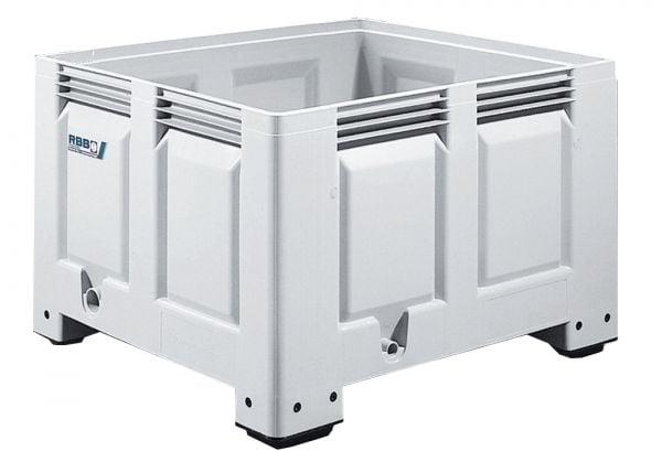 Groß-Stapelbehälter BIG BOX mit 2 Kufen, Inhalt 465L, Farbe: grau, B1200xT1000xH585mm