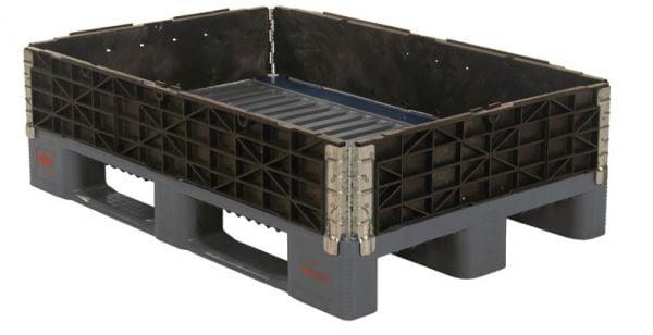 Kunststoff-Aufsatzrahmen, faltbar, schwarz, B1200xT800xH200mm