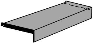 Sockelboden 1000x350mm lichtgrau mit Konsolen Serie K 70-BV
