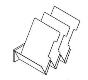 Stahlblech-Schrägablage für Serien Solus/Multiwa
