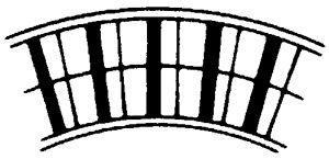 Rollenbahn-Kurve mit Stahlrollen, 400mm breit, 62er Teilung