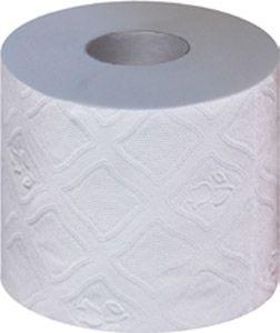 Pack = 6 Toilettenpapierkleinrollen, 4-lagig Tissue, Kern-Ø 50mm