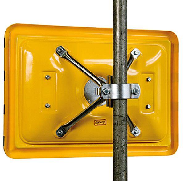 Vierpunkt-Kugelgelenk-Halter aus verzinktem Stahl für Wand- und Pfostenmontage, ø 50-80mm