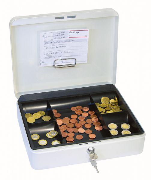 Geldkassette Typ 1, weiß, Einsatz schwarz, 300x240x90mm