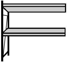 Großfach-Regal Serie B 67-GFH