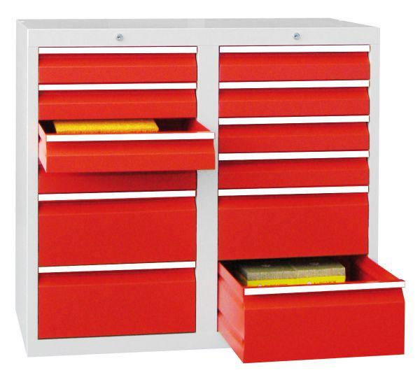 Schubladenschrank, 12 Schubladen, Serie 501-10