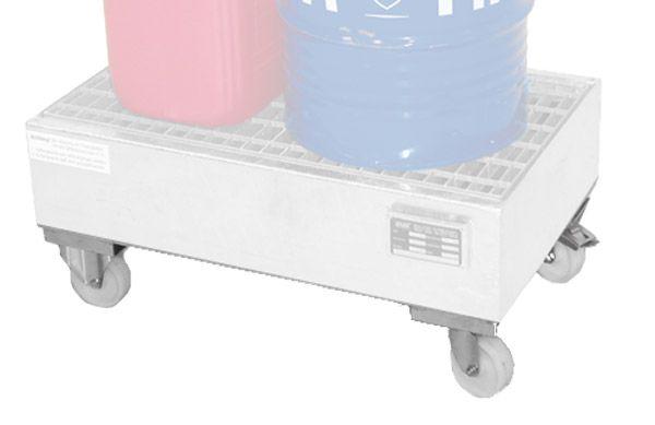 Zubehör: Fahrwerk, Bauhöhe 125mm, für Auffangwannen bis 60 Liter-Volumen