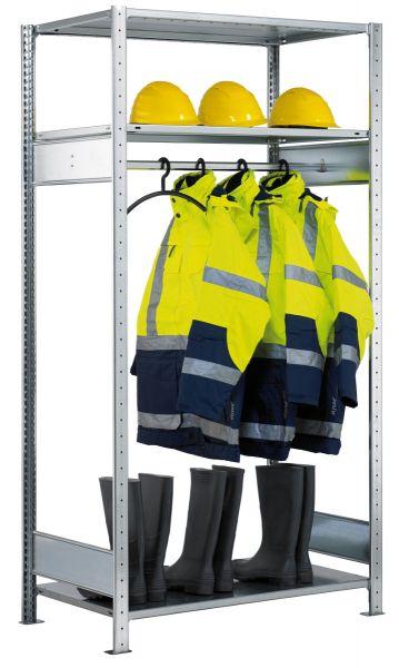 Garderoben-Grundregal mit 3 Fachböden und 1 Kleiderstange