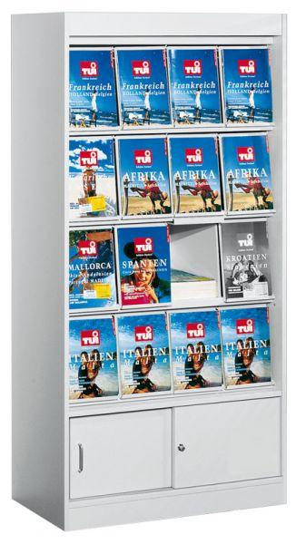 Prospekt- und Zeitschriften-Schrank 16xA4
