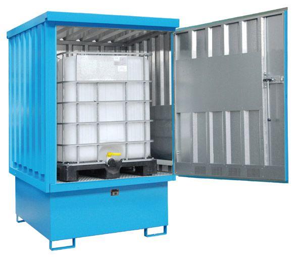 Gefahrstoff-Depot Typ 5 mit Türen, B1525xT1550xH2400mm