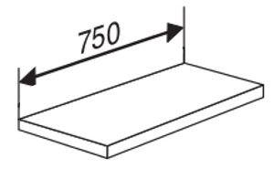 Stahlboden ohne Anschlagkante für Serie Libra