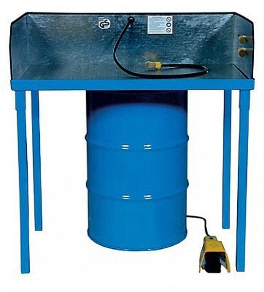 Kleinteilereiniger, Standmodell, Reinigungsfläche 1140x650mm, mit selbstansaugender Druckluftpumpe