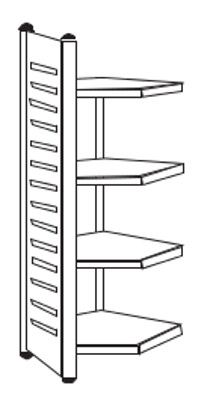 Eckfeld für Büro-Regale Serie M2