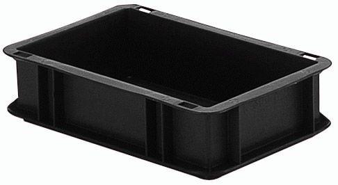 Norm-Stapelkasten Typ 6, aus leitfähigem PP, Inhalt 3 Liter
