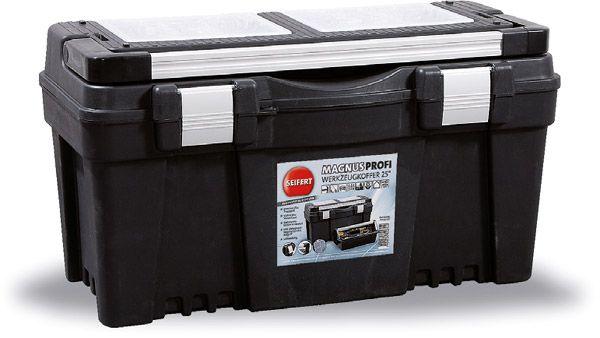 Werkzeugkoffer Magnus Profi Typ 4, schwarz/Alu, B595x325x280mm