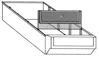 Trennwände 91 mm breit, für Schubkästen Typ E 3-5