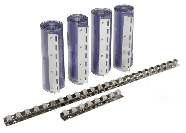PVC-Streifenvorhang-Set