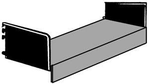 Sockelboden 750x350mm lichtgrau mit Seitenstützen Serie K 70-BV