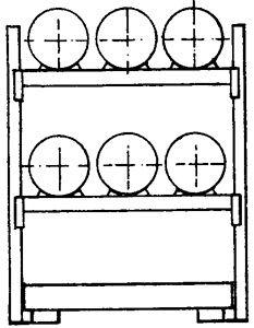 Fass-Kombiregal Typ 3
