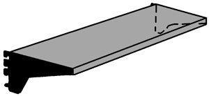 Stahlboden 1000x300mm lichtgrau mit Konsolen Serie K 70-BV